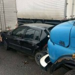 SÃO PEDRO DA ALDEIA – Acidentes causam engarrafamento na RJ-140, em São Pedro da Aldeia