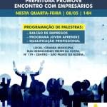SÃO PEDRO DA ALDEIA – Prefeitura promove encontro com empresários nesta quarta-feira (08)