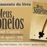 """LITERATURA – Escritor José Castro lança livro """"Meus Sonetos"""", em Iguaba Grande"""
