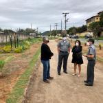 Moradora aldeense transforma área de lixo em jardim
