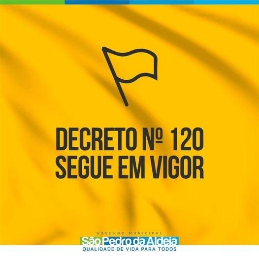 Covid-19: Prefeitura de São Pedro da Aldeia segue com bandeira amarela com estabilidade dos índices da doença