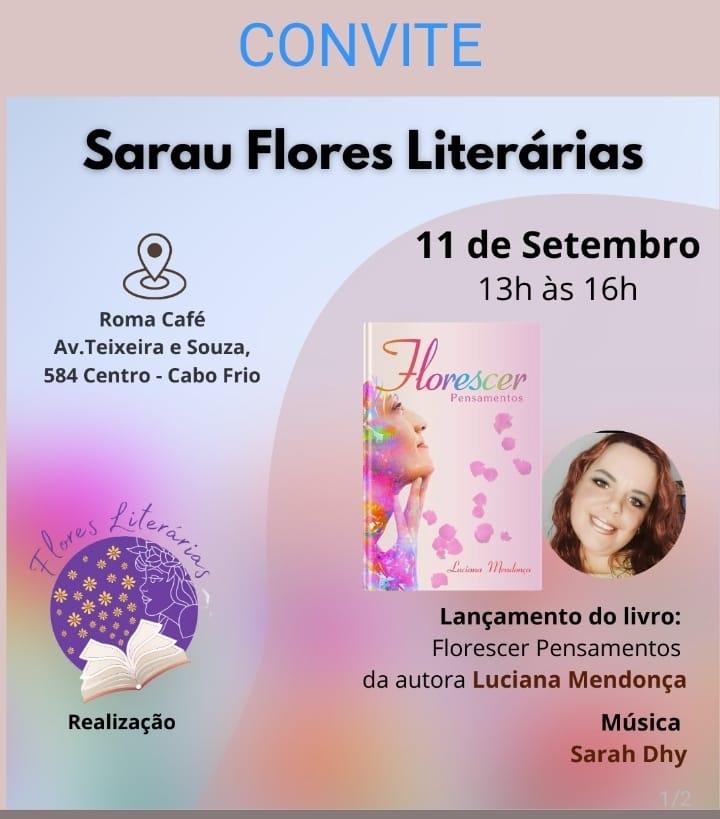 """Escritora Luciana Mendonça lança livro """"Florescer Pensamentos"""""""