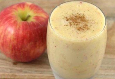 Batido de aveia, maçã com limão para ajudar a perder peso