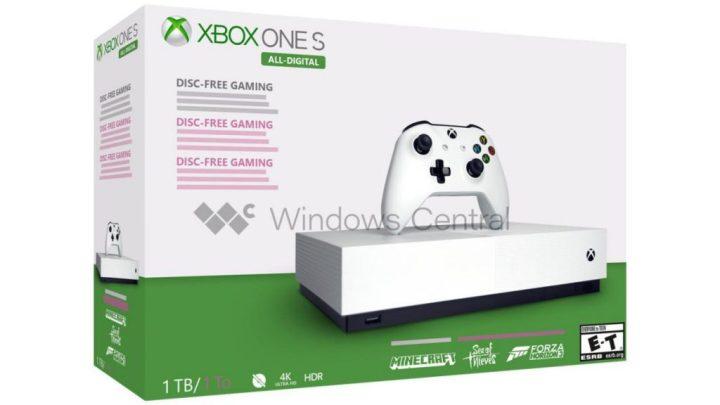 Xbox One S All Digital 1 - Xbox One S All-Digital deverá ser lançada a 7 de maio