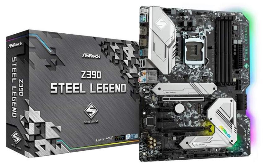 Asrock Z390 Steel Legend 1 - ASRock lança a motherboard Z390 Steel Legend