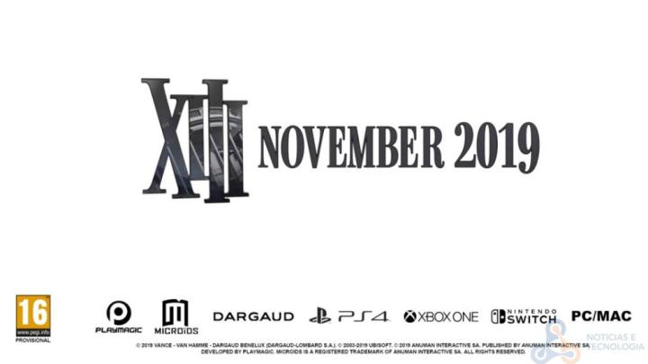 XIII - Remake do XIII chegará em Novembro para a PS4, Xbox One, PC / Mac e Nintendo Switch