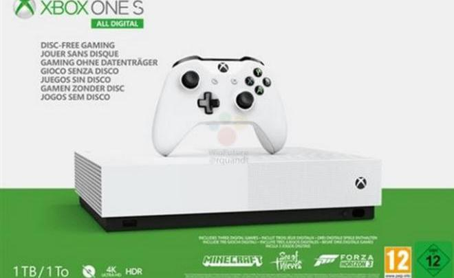 Xbox One S All Digital 2 - Microsoft Xbox One S All Digital vai estar à venda a 7 de maio por 229 euros