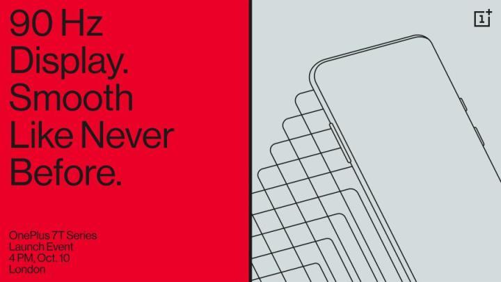 Evento OnePlus Londres - Oficial: Oneplus 7T e 7T Pro vão ser anunciados no próximo dia 10 de Outubro