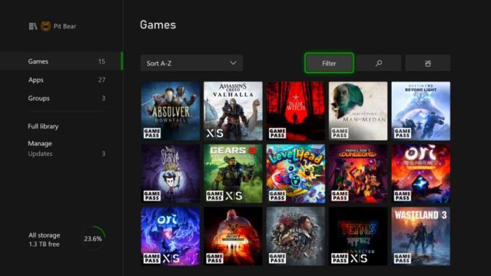 Atualização do Xbox