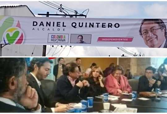 Gustavo Petro y Daniel Quintero