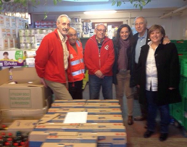 Transportistas, Corte Ingles y PSOE entregando Alimentos