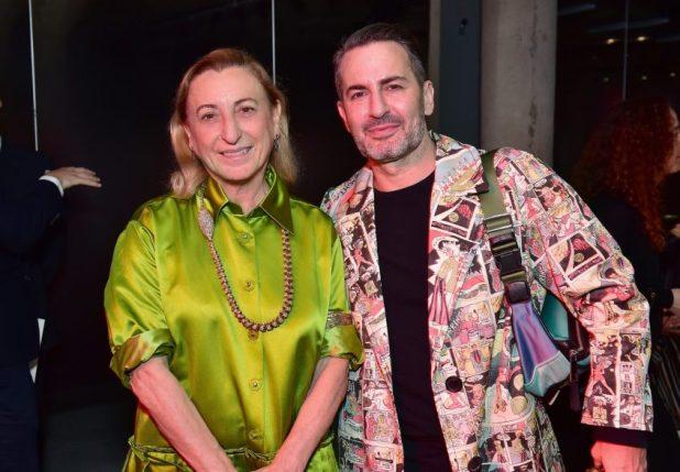 Miuccia Prada y Marc Jacobs