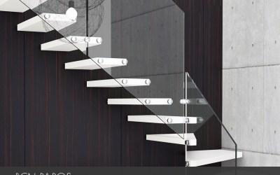 Escaleras de vidrio Rfserveis diseños exclusivos