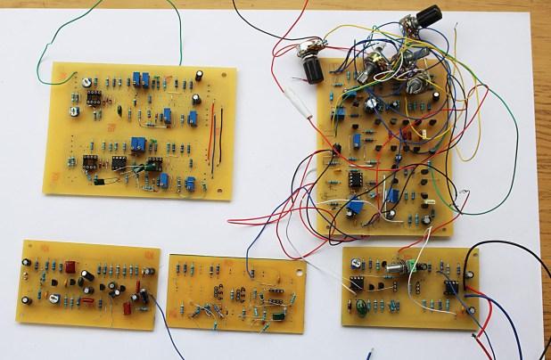 Very first MiniMod prototype pcbs