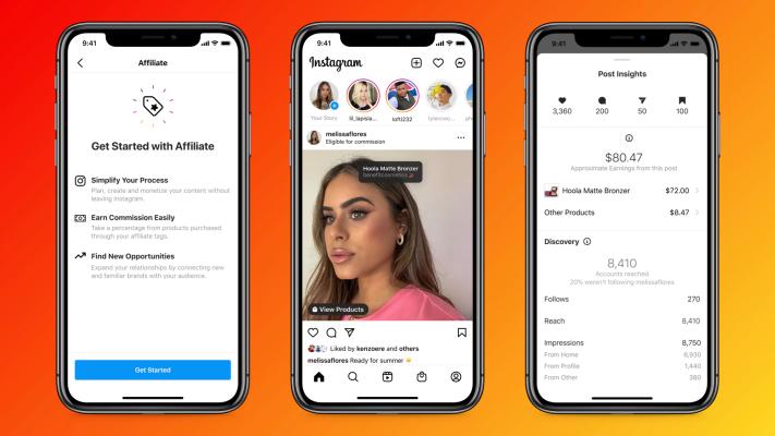 Instagram agrega funciones de afiliación y tienda para creadores