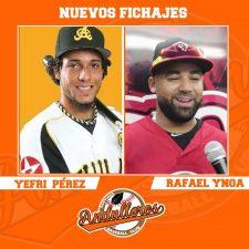 Andulleros firman a Rafael Inoa y Jefri Pérez
