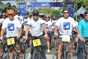 Alcaldía Santiago y Unión Europea realizan exitosa bicicletada por el cambio climático