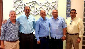 Directivos de las Águilas se reúnen con miembros de CORRASAN y aclaran sobre deuda del Estadio Cibao.