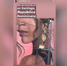 Zoe Saldaña reacciona feliz tras conocer que su rostro se encuentra en mural de Santiago wow qué honor dijo la actriz