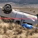 Muere hombre en volcadura en Arteaga