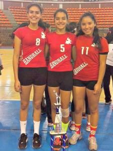 Tehuecanenses Ganadoras de 4to Lugar Handball