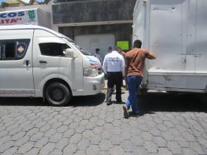 La unidad responsable un micro bus; solo hubo daños minimos