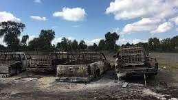 Murieron calcinados, al parecer transportaban combustible robado