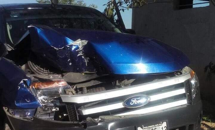Carambola de tres autos, no hubo lesionados