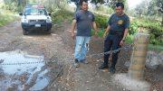 Colocan cadenas en calles de Chapulco, para prevenir actos delictivos