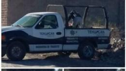 Captan Unidad de Tránsito Municipal Tirando Basura En Terreno Baldío