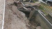 Obra del gobierno del estado afectada por lluvias