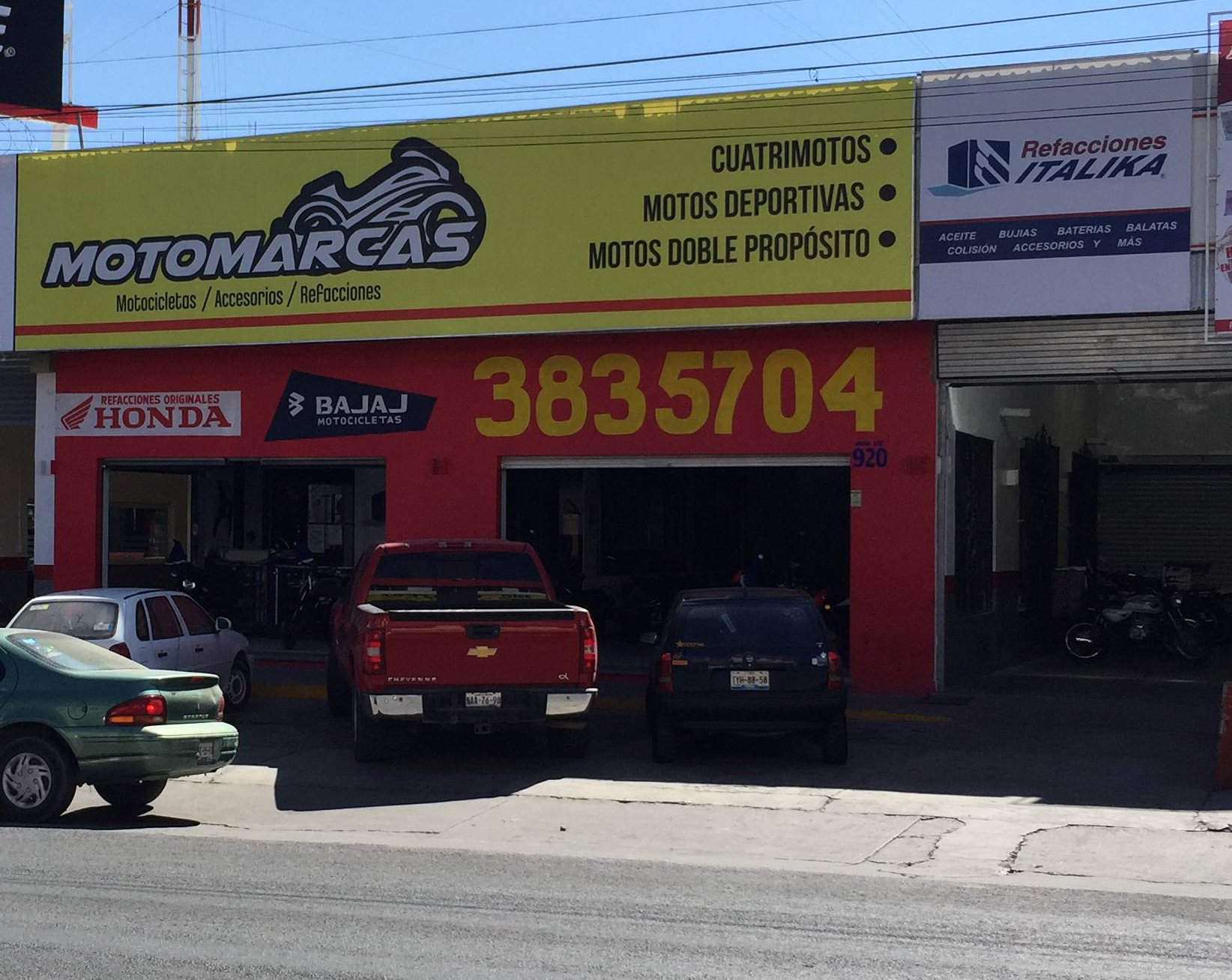 Fachada Motomarcas