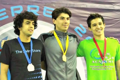Medalla de bronce 200 metros pecho Grand Prix Monterrey 2017