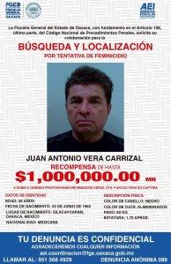 Ofrecen recompensa para localizar a autor del atentado con ácido contra María Elena Ríos