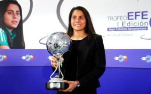 Futbolista mexicana fue distinguida como la Mejor Jugadora Latinoamericana