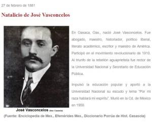 #UnDíaComoHoy… nació José Vasconcelos, oaxaqueño ilustre