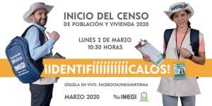 Arranca INEGI Censo de Población y Vivienda 2020