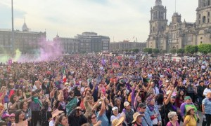 80 mil marcharon en el 8M en CDMX