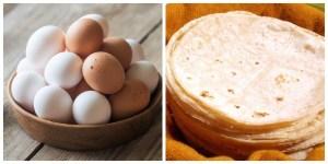 Suben precios de huevo y tortilla, en medio de la contingencia