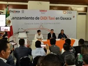 #Oaxaca Presenta Alejandro Murat, plataforma de taxis DIDI para la capital del estado