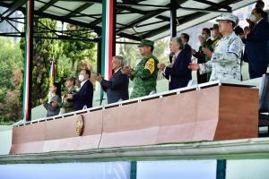 Conmemora AMLO aniversario de la Guardia Nacional
