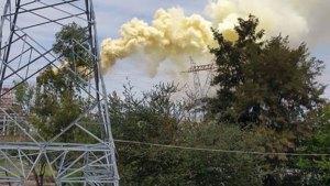 Presunta nube tóxica sale de refinería de Salamanca