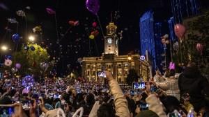 Wuhan celebra el año nuevo con eventos masivos