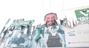 Priístas recurren al vandalismo, ante desesperación de la inminente derrota