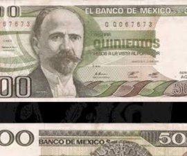 Estos son todos los billetes de 500 pesos que han circulado en México, ¿los recuerdas?