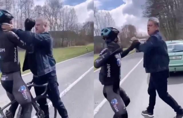 Ciclista del Team DSM fue estrangulado y golpeado por un conductor