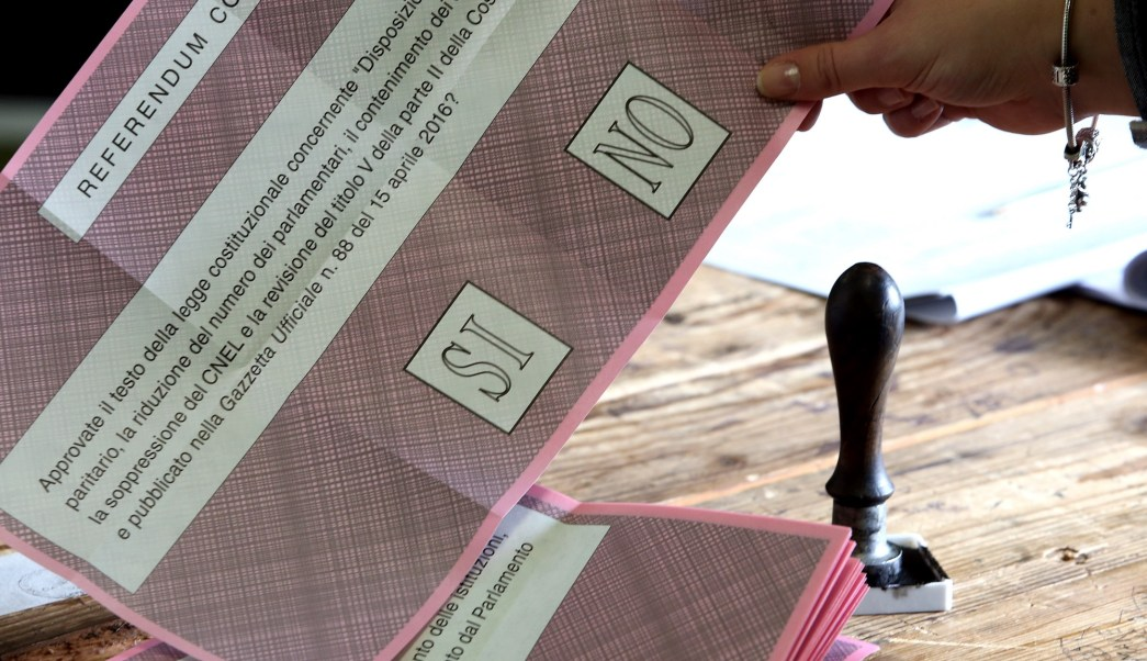 Boleta electoral del referendo (Photo by Franco Origlia/Getty Images)