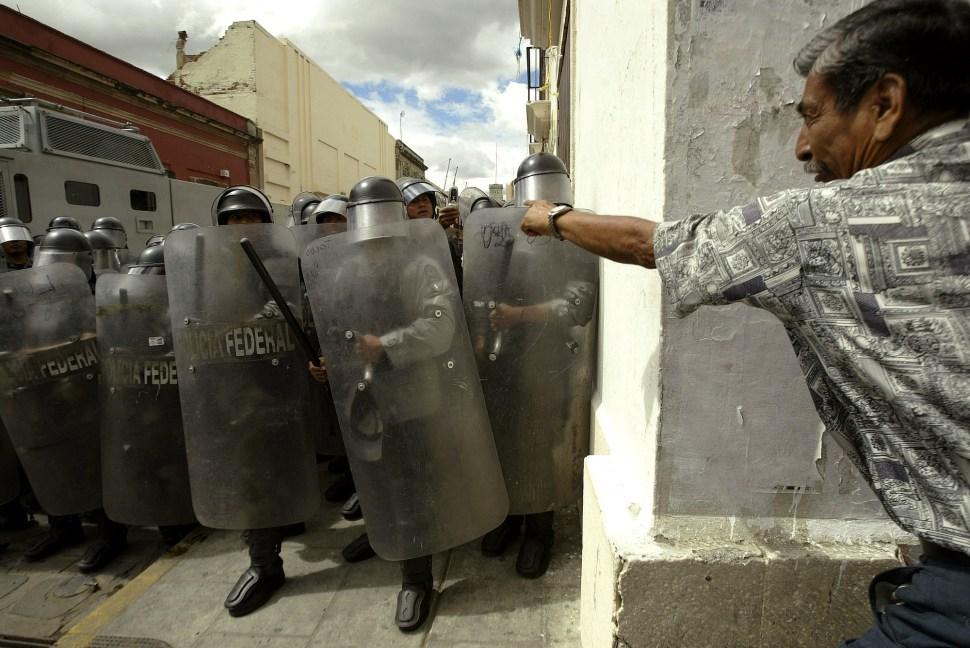 Protesta en la ciudad de Oaxaca