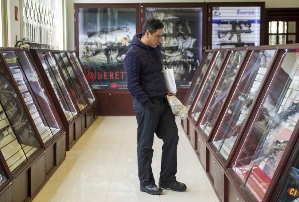 Única tienda de armas en la Ciudad de México.