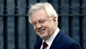 El Secretario de Estado británico para la salida de la Unión Europea, David Davis (AP)